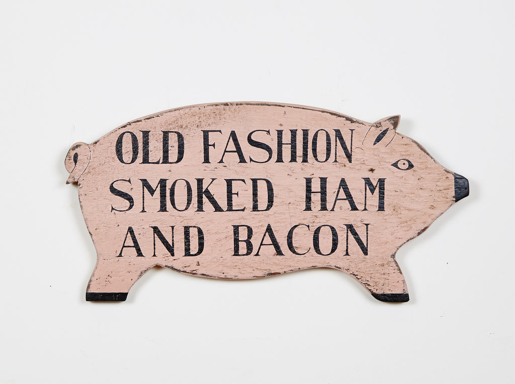 Pig, Old Fashioned Smoked Ham Americana Art