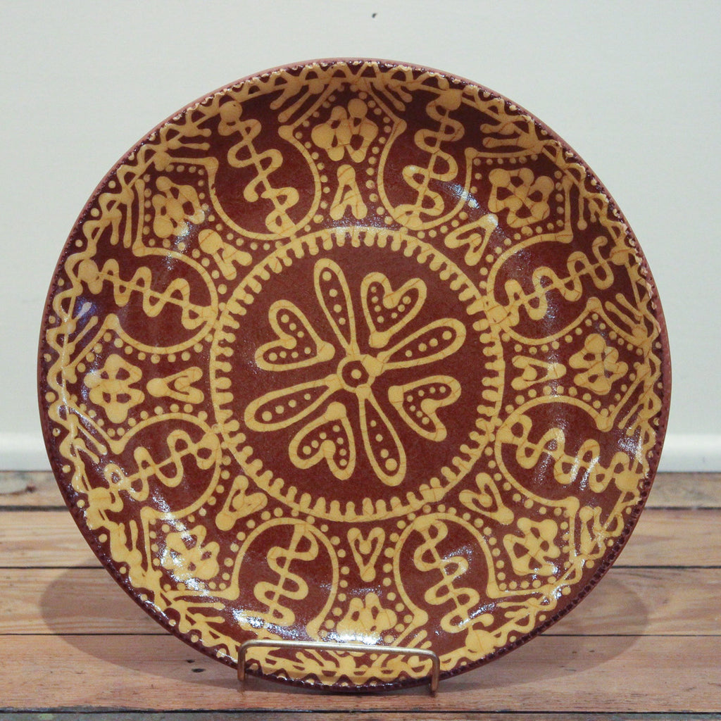 Dotted Hearts Medium Round Plate