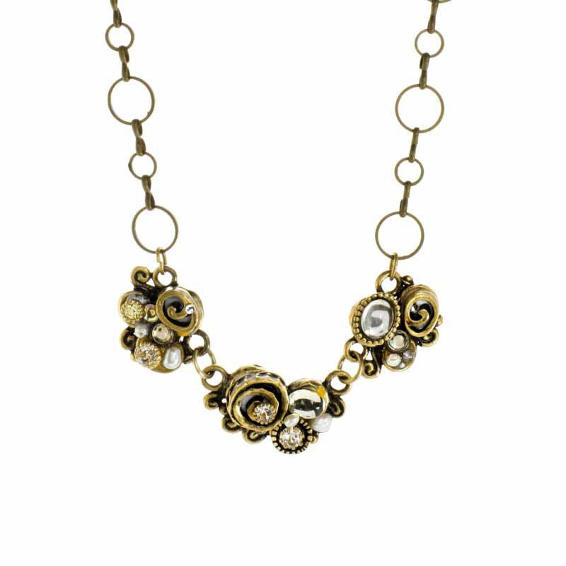 Champagne 3 Piece Swirl with Single Chain Necklace