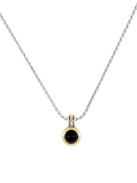 Genuine Black Onyx Pendant with Chain by John Medeiros