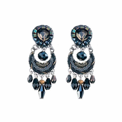Moon Jet Yael Earrings by Ayala Bar