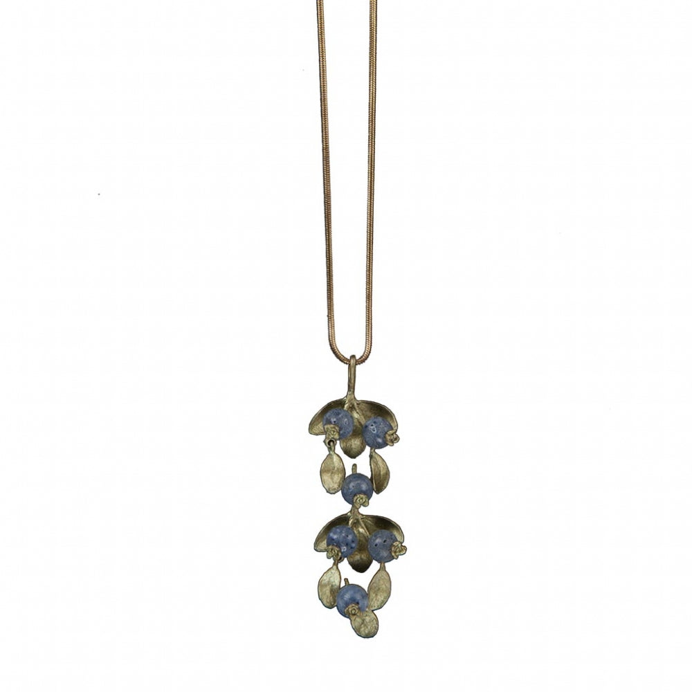 Blueberry 18 Inch Pendant Necklace by Michael Michaud
