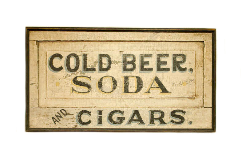 Cold Beer, Soda, Cigars Americana Art
