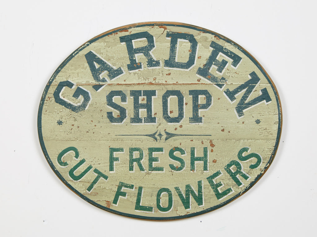 Garden Shop, Oval Americana Art