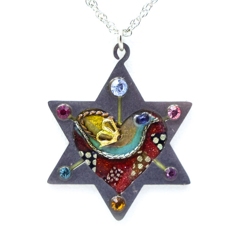 Peace and Love Star of David Necklace