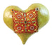 Big Fatty Heart Tacked with Buttons Ceramic Wall Art
