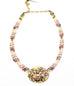 Pearl Blossom Big Oval 3 Bead Strand Necklace by Michal Golan