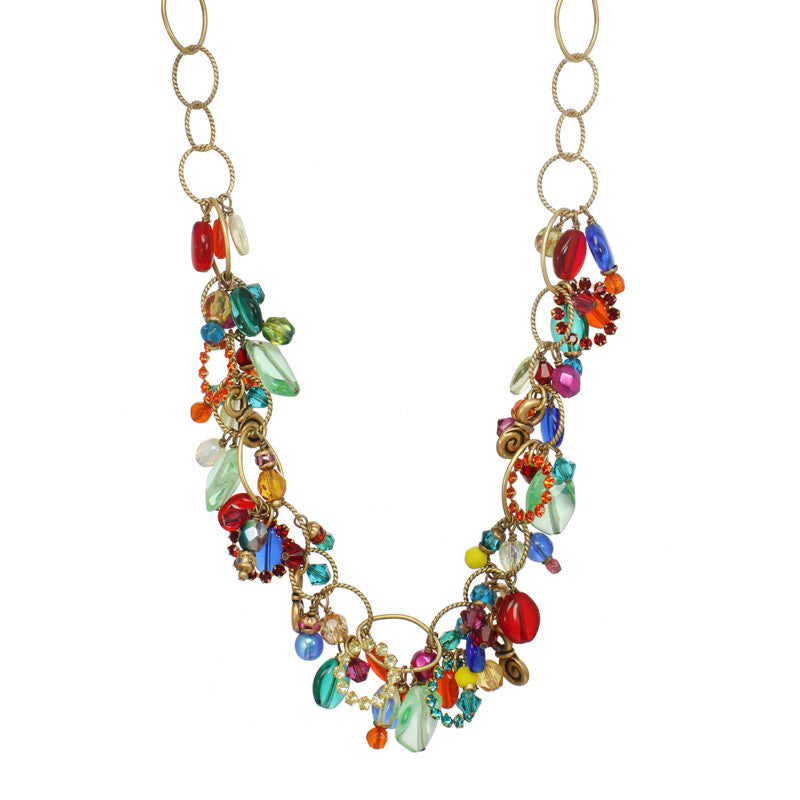 Multi Bright Dangle Necklace by Michal Golan