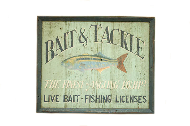 Bait & Tackle The Finest in Angling Equipment Americana Art