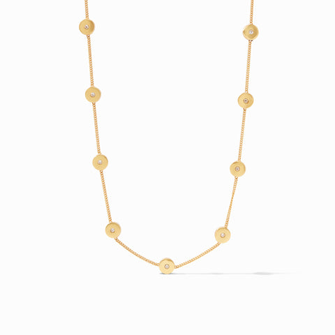 Poppy Delicate Station Necklace Gold Cz by Julie Vos