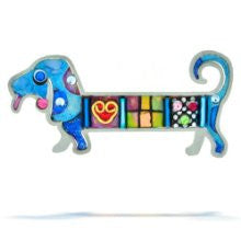 Blue Wiener Dog Pin