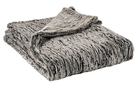 Black Walnut Luxury Faux Fur Throw