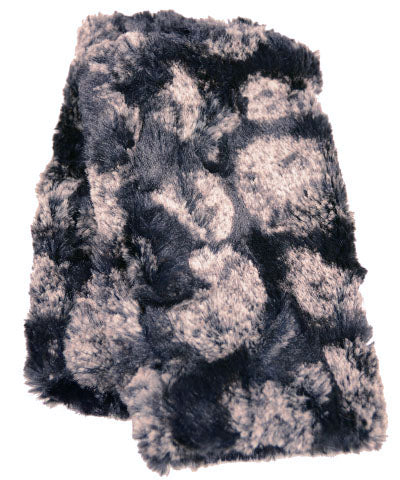 Pom-Pom in Black Luxury Faux Fur Fingerless Gloves