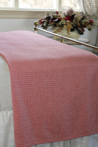 Periwinkle Table Cloth/Throw in Cherry