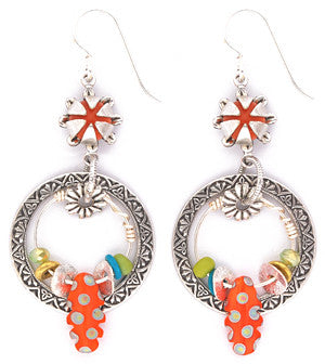 Fire Flower Earrings by Desert Heart