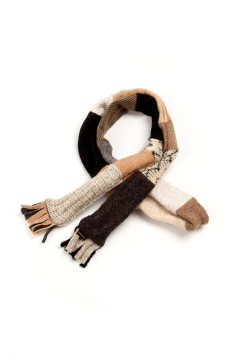 Wool Skinny Scarf in Neutral