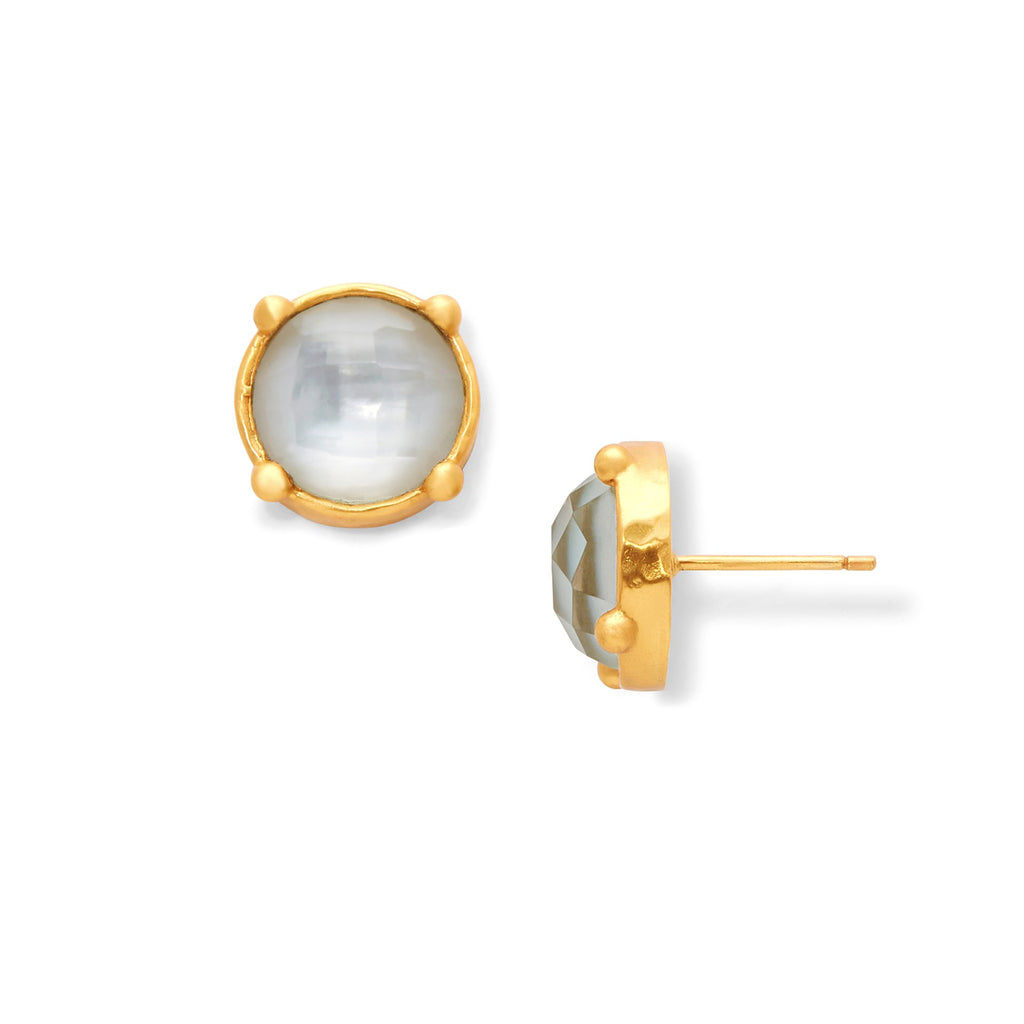 Honey Stud Gold Iridescent Clear Crystal by Julie Vos