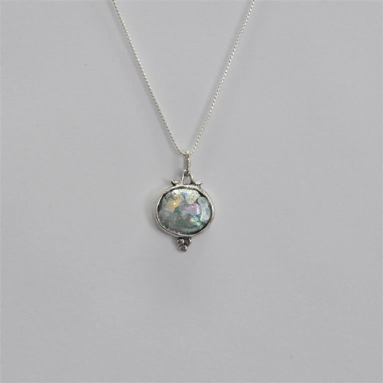 Dainty Drop Roman Glass Necklace