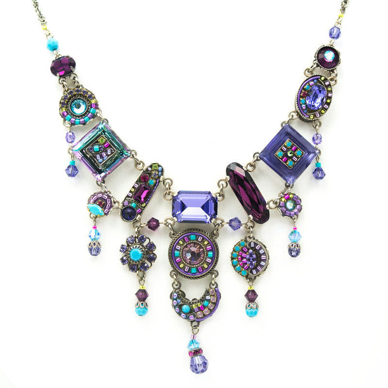 Amethyst La Dolce Vita Elaborate Necklace by Firefly Jewelry