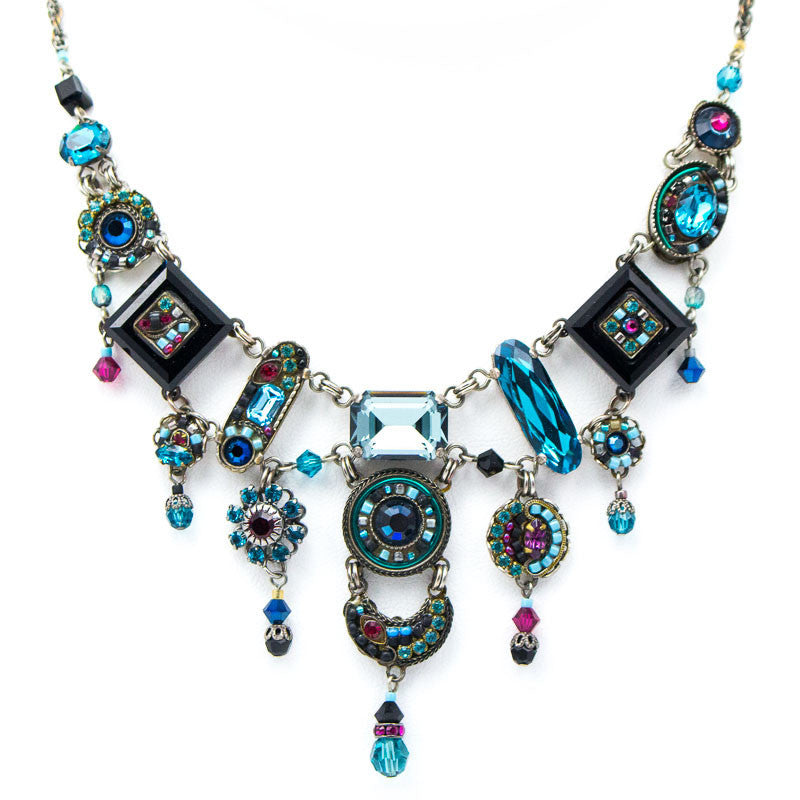 Midnight Blue La Dolce Vita Elaborate Necklace by Firefly Jewelry