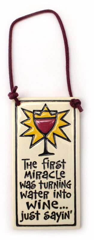 First Miracle Small Wine Tag Ceramic Tile