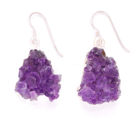 Amethyst Druzy Earrings by Desert Heart