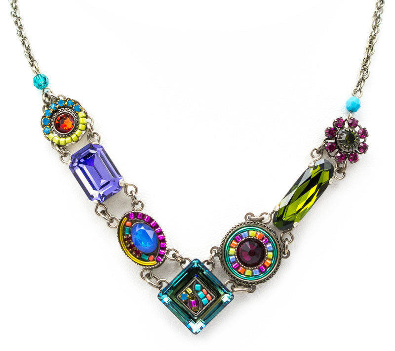 Multi Color La Dolce Vita Necklace by Firefly Jewelry