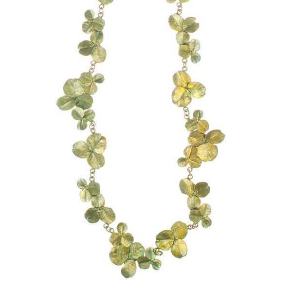 Clover All Leaf 16 inch Necklace by Michael Michaud