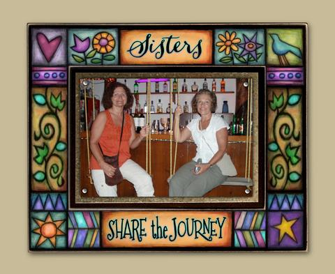 Sisters Share Journey Large Frame