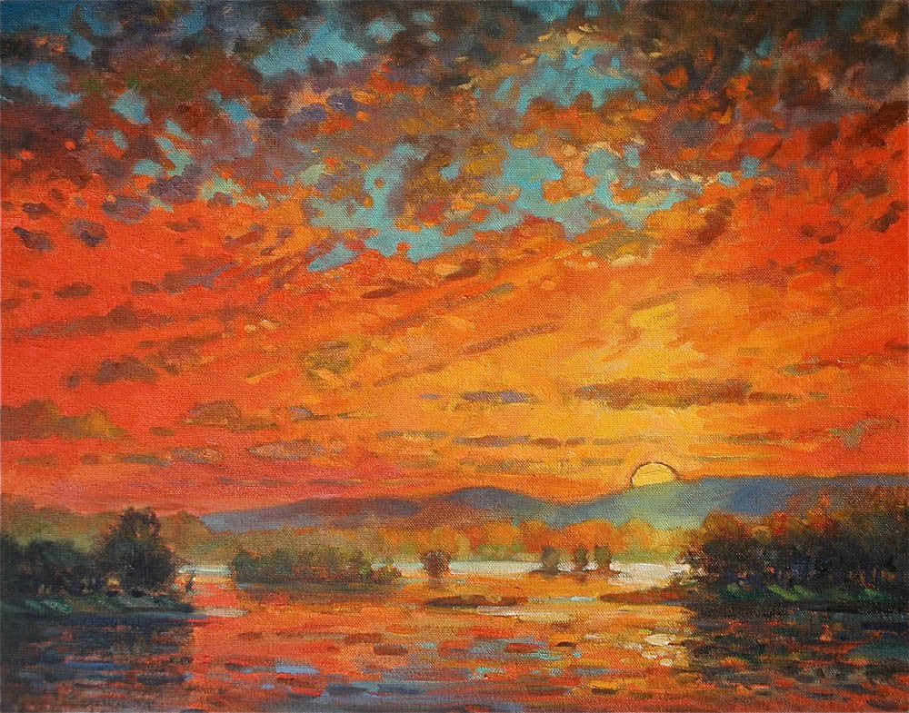 Susquehanna Sunset Red by Jonathan Frazier