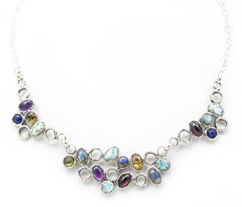 Natural Beauty Jewel Roman Glass Necklace