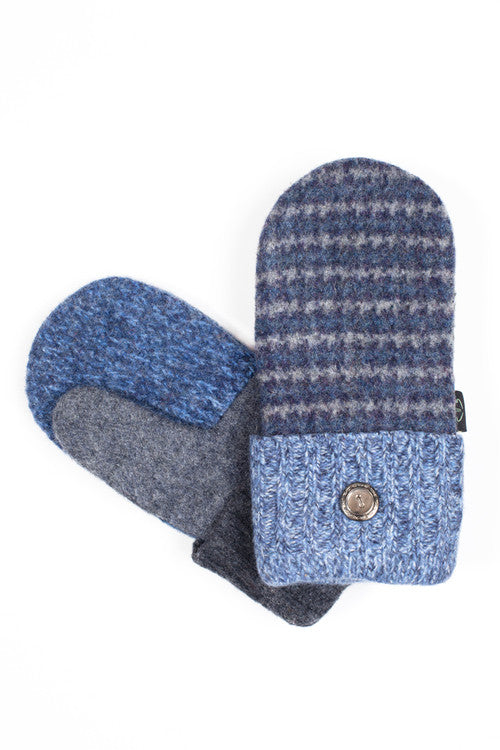 Wool Mittens in Denim