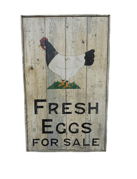 Fresh Eggs for Sale (with Chicken Painting) Americana Art