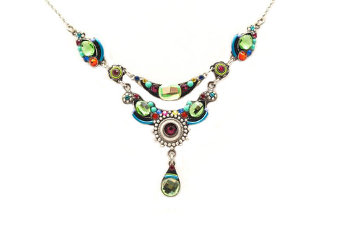 Multi Color Large Organic Necklace by Firefly Jewelry