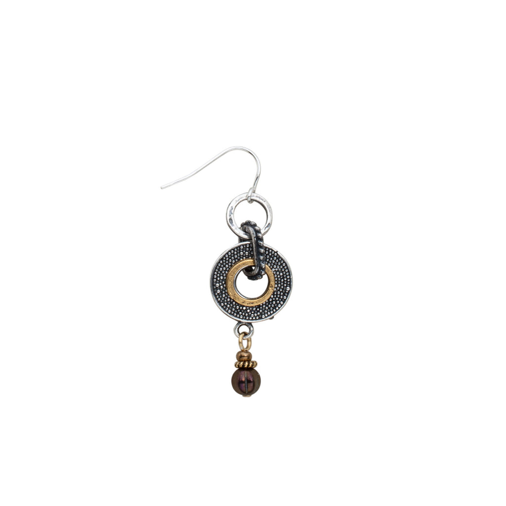 Earrings Mixed Up Metals by JoLa Collage
