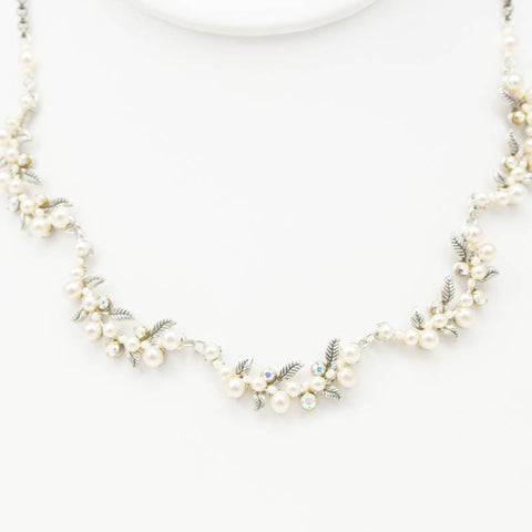 Large Pearl Necklace by Firefly Jewelry