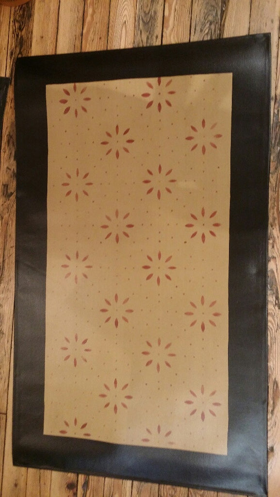 Garrison House Floorcloth with Border in Sage Green - Size 32'' x 52''