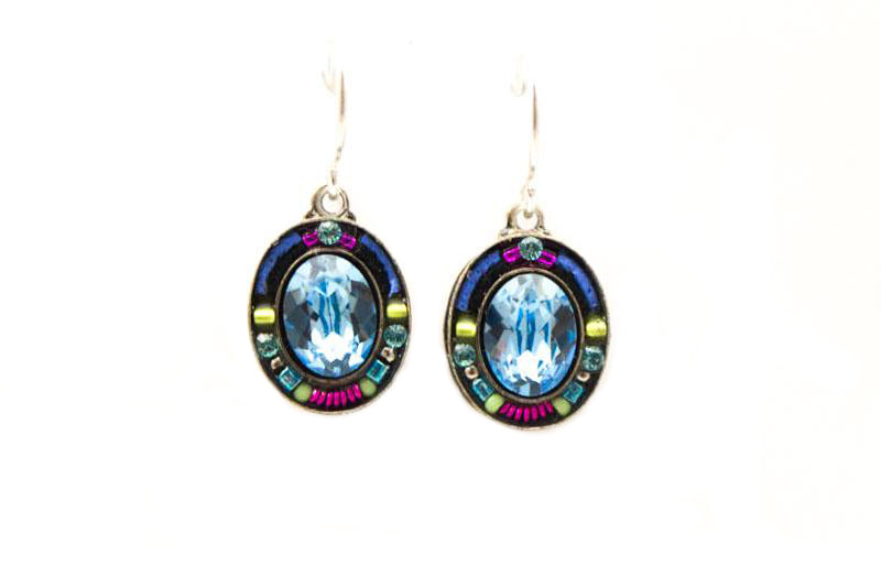 Aquamarine Oval Earrings by Firefly Jewelry