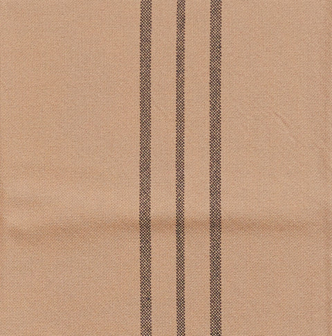 Feed Sack III Pillow Case in Tan with Brown