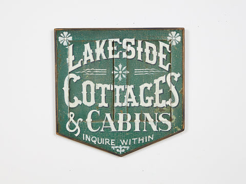 Lakeside Cottage Americana Art