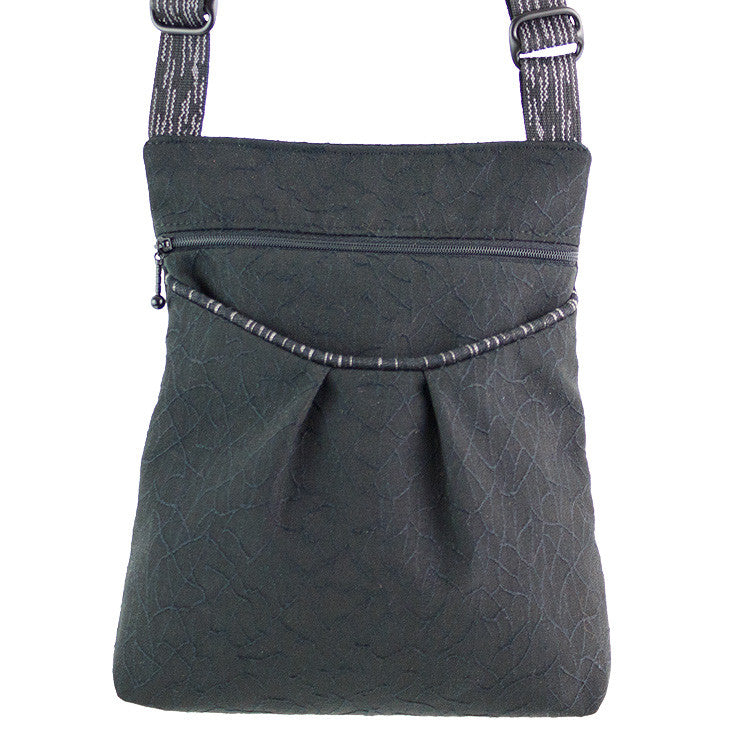 Maruca Busy Body Handbag in Crackle Black
