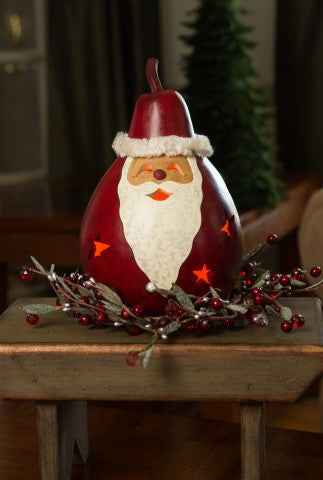 Santa with Stars Gourd