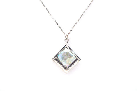 Dainty Triangle Roman Glass Necklace