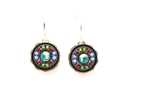 Light Turquoise Isabella Round Earrings by Firefly Jewelry