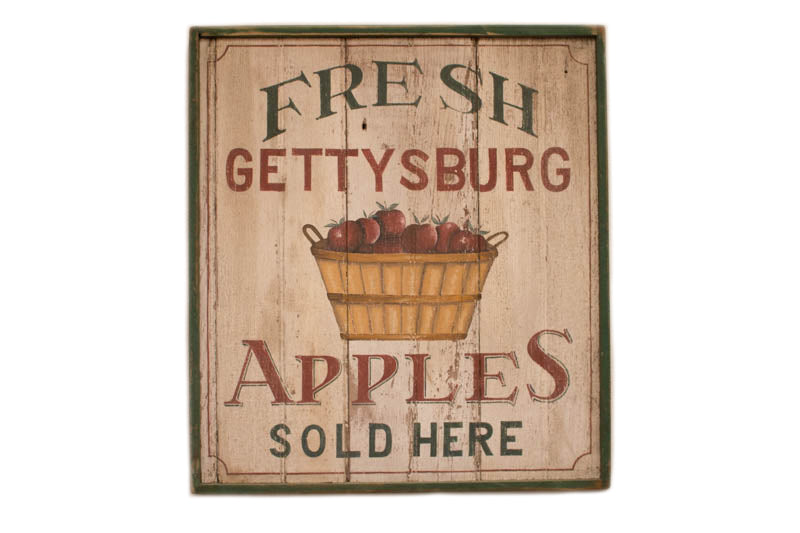 Fresh Gettysburg Apples (A) Green Trim Americana Art