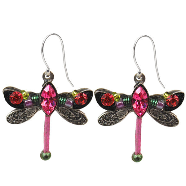 Rose Petite Dragonfly Earrings by Firefly Jewelry