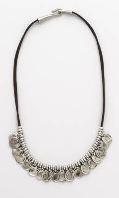 Coins Leather Necklace
