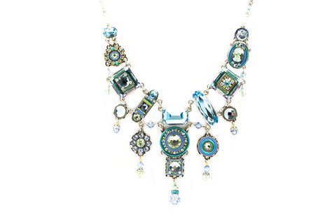 Aqua La Dolce Vita Elaborate Necklace by Firefly Jewelry