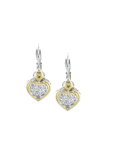 Heart Collection Pave French Wire Earrings by John Medeiros