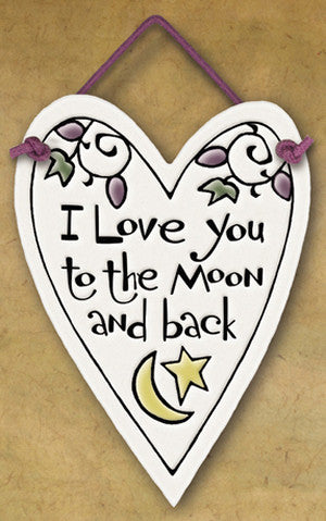 To The Moon And Back Charmer Ceramic Tile